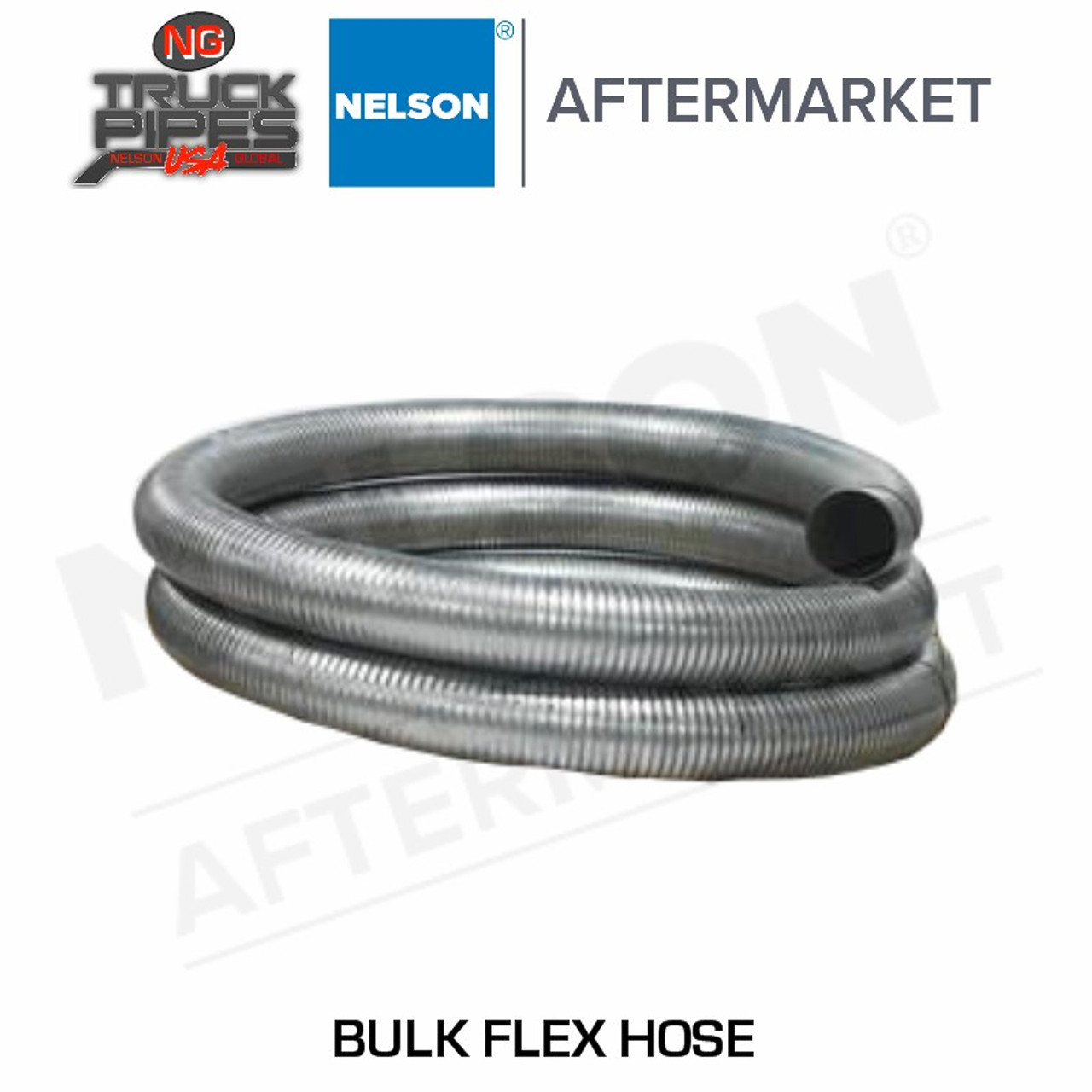 "2.25"" ID X 10' Stainless Steel Bulk Flexible Tubing Nelson 89657K"
