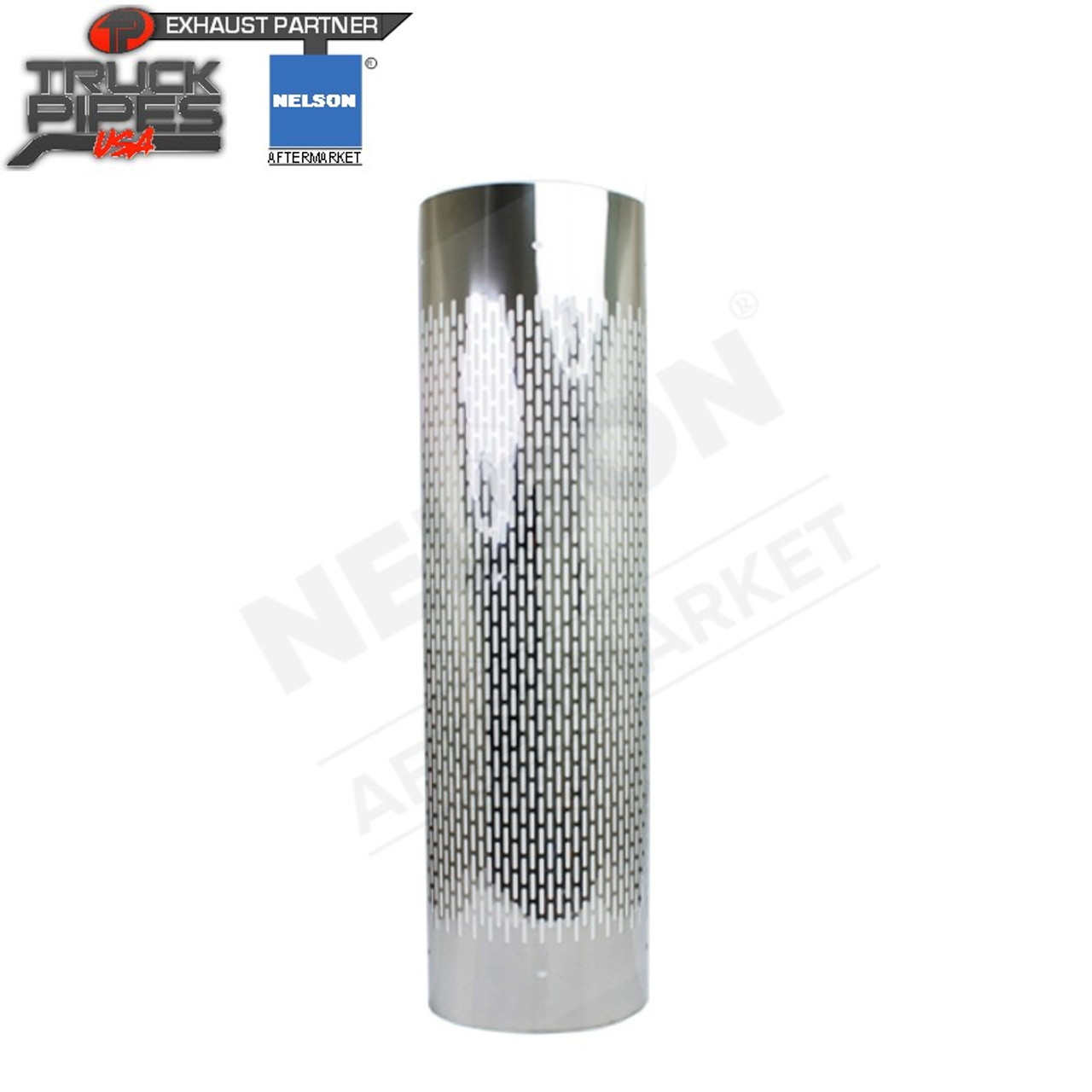 "6"" Tube 1/2 Wrap SS x 48"" Long Heat Shield - Vertical Slot Nelson 90976C"