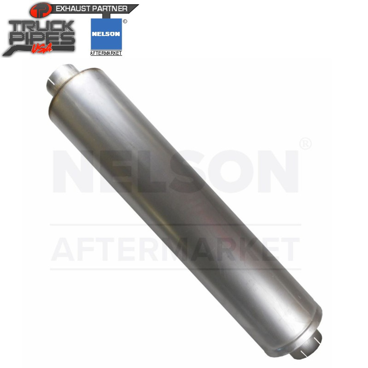 """VTM Muffler - Style 1 EIEO - 9x44 - 4""""ID in/out (OEM) Nelson 86108M"""