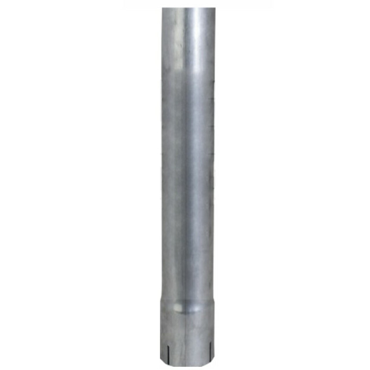 "2.5"" x 48"" Straight Exhaust Stack Pipe Aluminized ID Bottom Nelson 89209A"