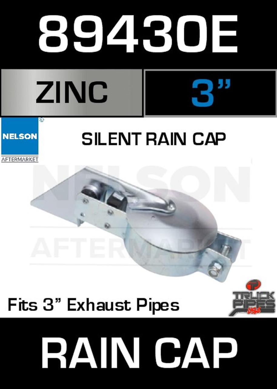 """3"""" Exhaust Rain Cap Zinc Plated Silent 89430E"""