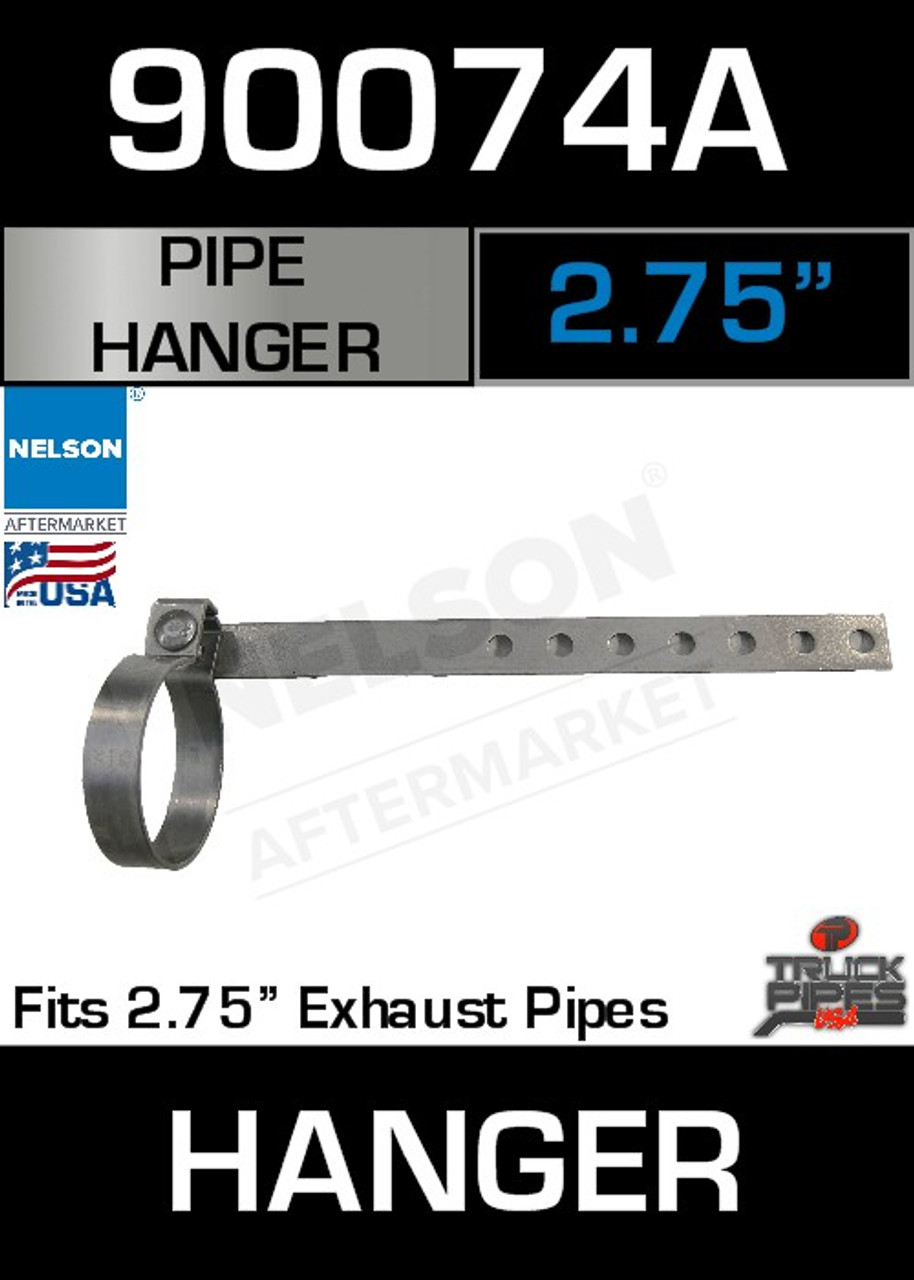 """2.75"""" Universal Exhaust Pipe Hanger 12"""" Long 90074A"""