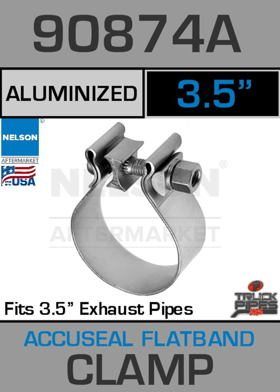 """3.5"""" Aluminized Steel AccuSeal Exhaust Clamp  90874A"""