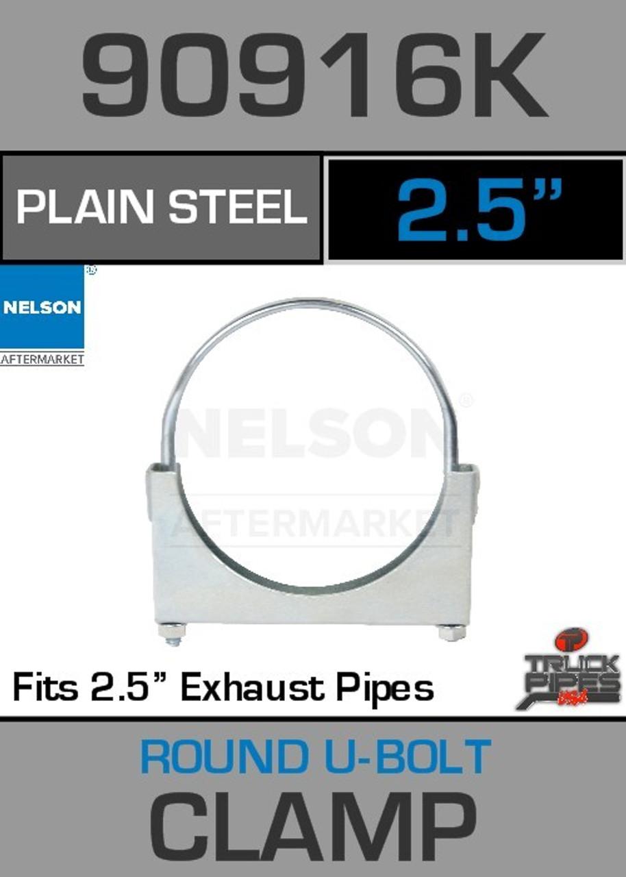 """2.5"""" Standard U-Bolt Plain Steel Exhaust Clamp 90916K"""