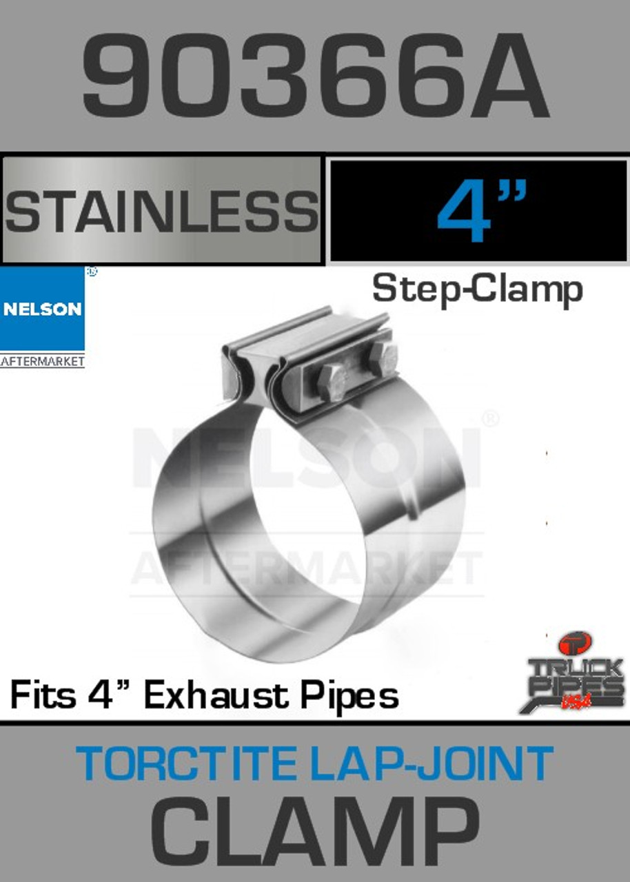 """4"""" Stainless Steel Torctite Preformed Lap Joint Clamp 90366A"""
