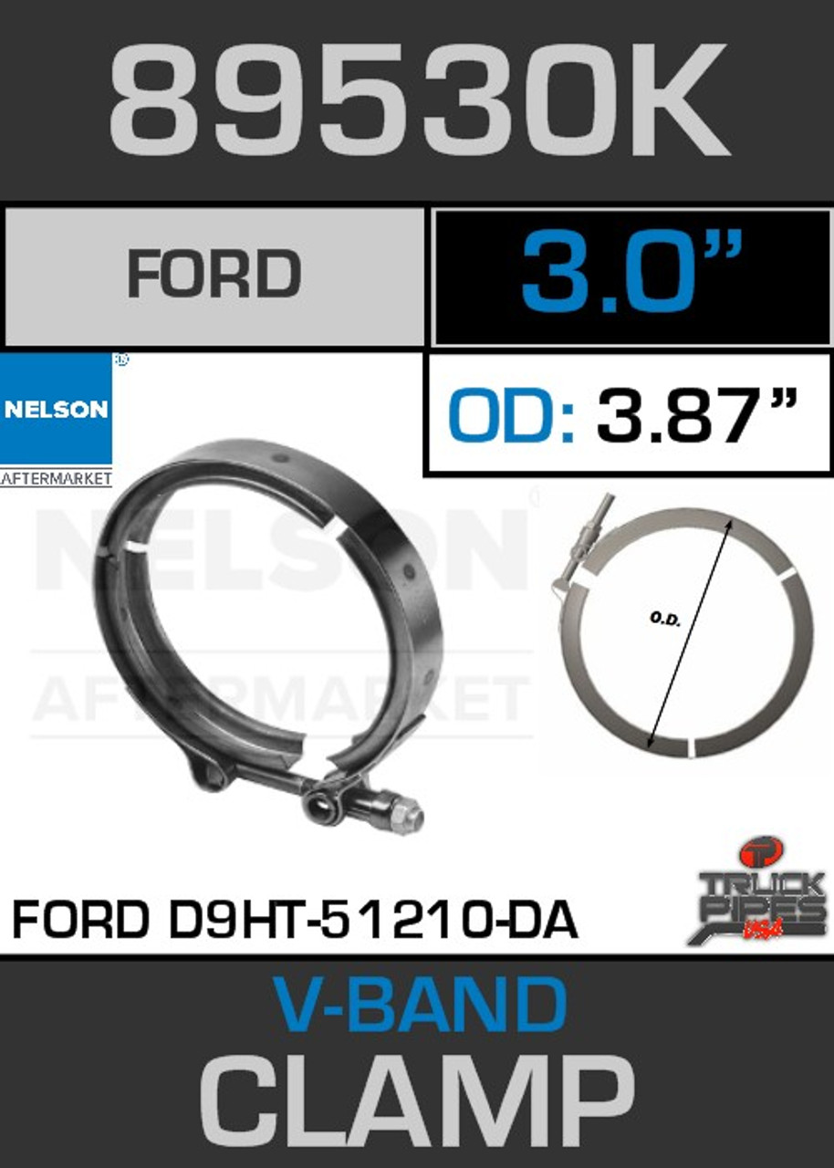 "3"" V-Band Clamp Ford E5HZ-5A231-B/370/429 3.87 Lip 89530K"