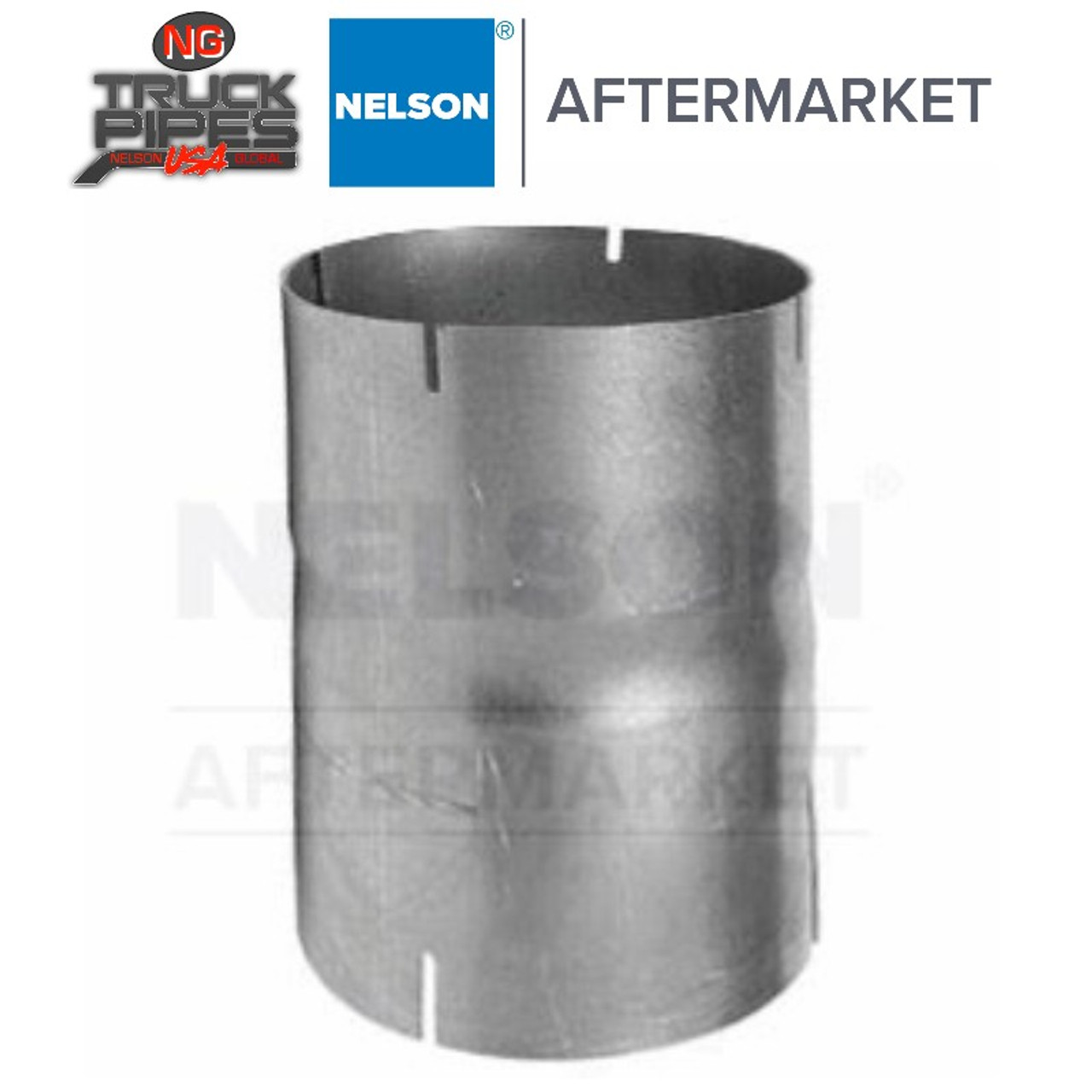 "4"" ID-ID Exhaust Connector Aluminized Nelson 89162A"