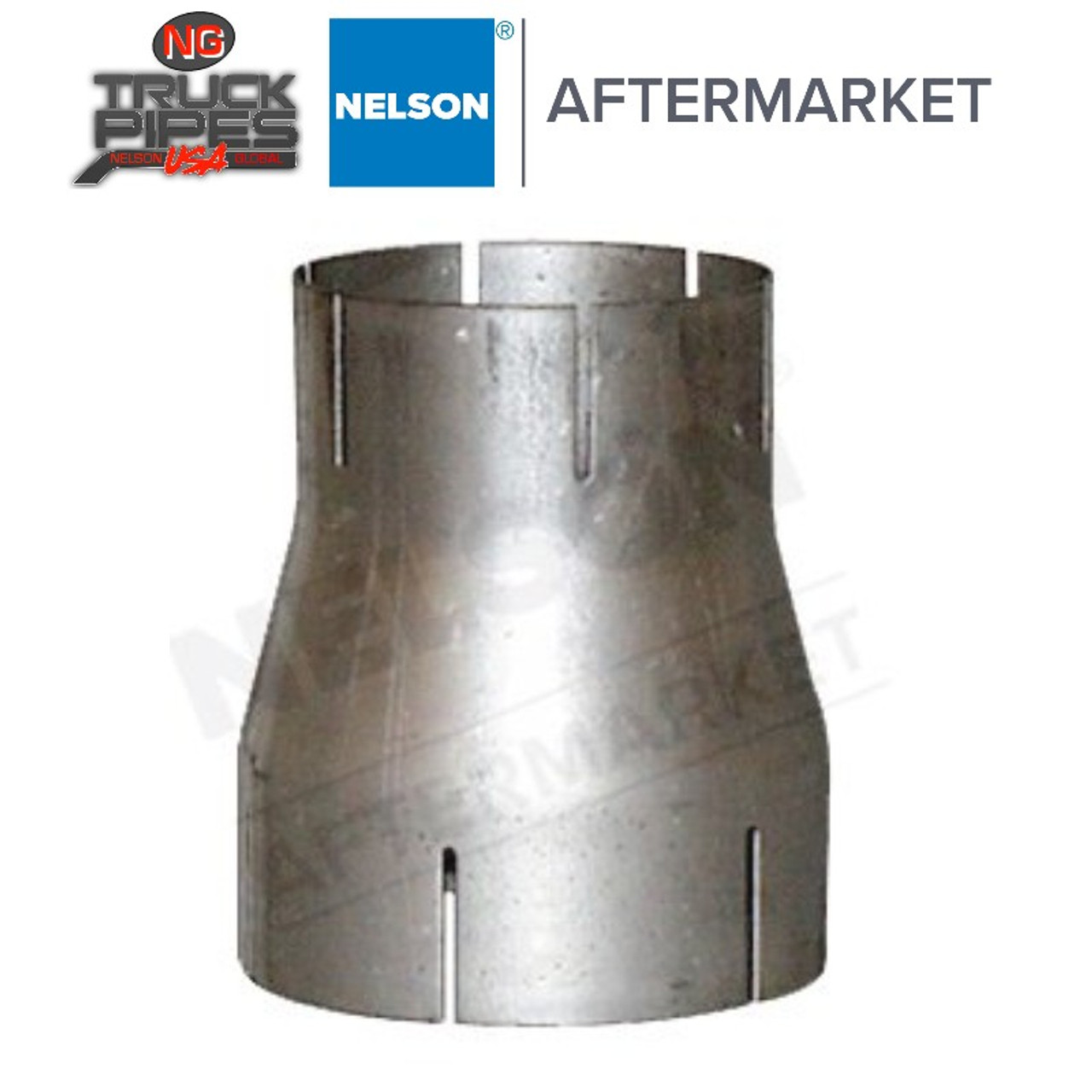 """4"""" x 3"""" ID-ID Reducer Exhaust Aluminized Nelson 89275A"""