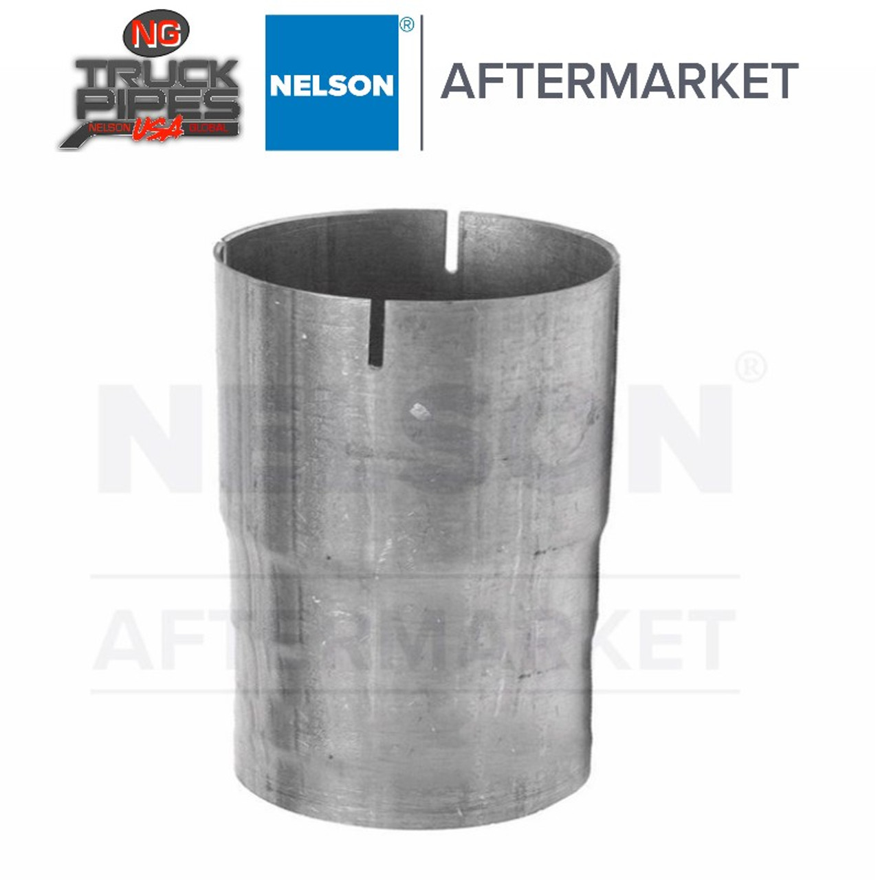 """2"""" OD-ID Straight Connector Aluminized Exhaust Nelson 89249A"""