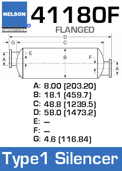 41180F Industrial Silencer - Type 1