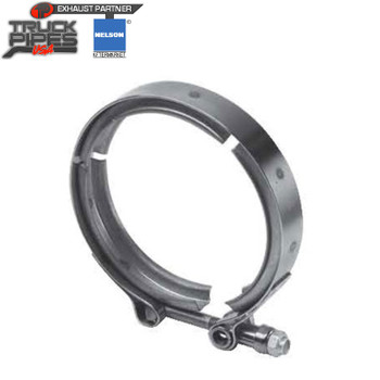 "4.88"" V-Band Turbo Exhaust Clamp Detroit 8V71T 6V92T 8V92T Nelson 89510K"