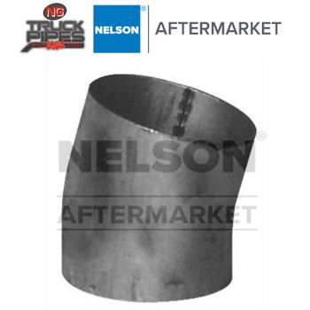 "3.5"" OD-OD 15 Degree Short Radius Elbow Aluminized x 1.75"" Leg Length Nelson 89131A"