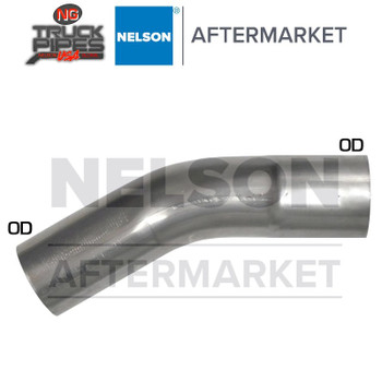 "3"" OD-OD 30 Degree Exhaust Elbow Aluminized x 3.3"" Leg Length Nelson 900166A"