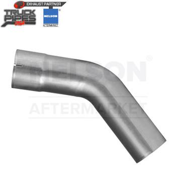 "2.5"" OD-ID 45 Degree Exhaust Elbow Aluminized x 6"" Leg Length Nelson 89072A"