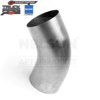 "4"" OD-OD 45 Degree Exhaust Elbow Aluminized x 4"" Leg Length Nelson 900534A"
