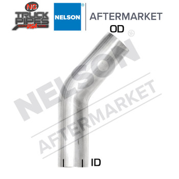 "3"" OD-ID 60 Degree Exhaust Elbow Aluminized x 6.5"" Leg Length Nelson 900165A"