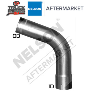 "5"" OD-ID 70 Degree Exhaust Elbow Aluminized 11"" & 7.5"" Leg Length Nelson 89239A"