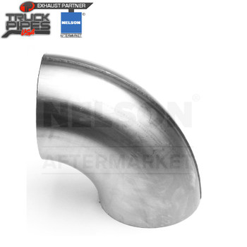 "4"" OD-OD 90 Degree Short Radius Elbow Aluminized x 6"" & 7"" Leg Length Nelson 90822A"