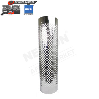 "8.5"" to 10.5"" Muffler 1/2 Wrap Aluminized x 48"" Long Heat Shield - Holes Nelson 89748A"
