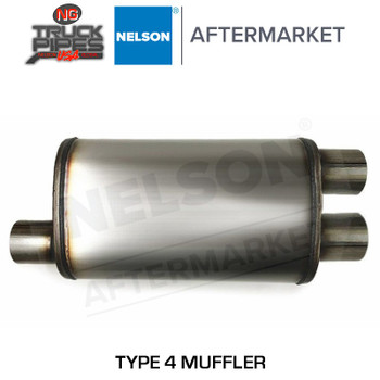 "Type 4 Muffler 4"" x 4"" x (10.1 x 15.1"") x 36"" Oval Double Wrapped Nelson 86203M"