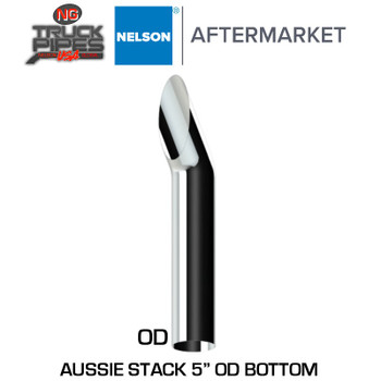 "5"" OD x 48"" Aussie Style Chrome Stack Nelson TL310019C"