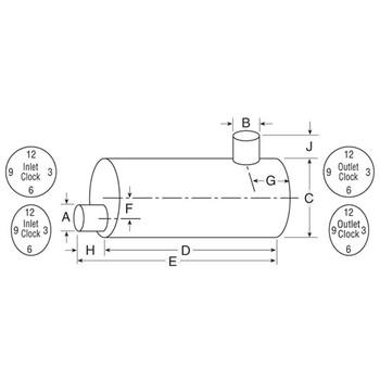 "Type7 Muffler 8.3"" x 11.5"" Oval Muffler 32"" Long 3.5"" IN-4"" OD OUT"