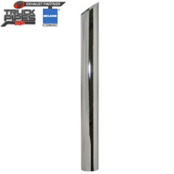 """4"""" x 36"""" Miter Stack Pipe Chrome OD Bottom Nelson 89991A"""