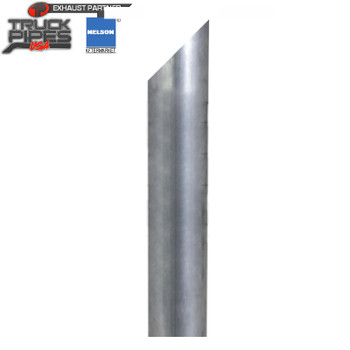 "5"" x 48"" Miter Stack Pipe Aluminized OD Bottom Nelson 89994A"
