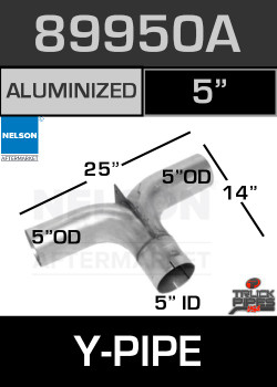 "89950A 5"" OD/OD/ID Aluminized Splitter Tee Adapter"