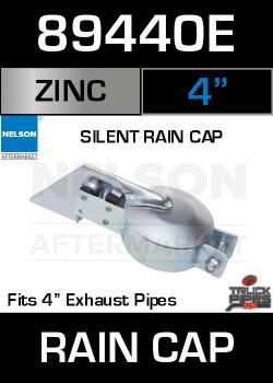 """4"""" Exhaust Rain Cap Zinc Plated Silent 89440E"""