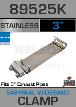 "3"" E-Z Seal Stainless Steel Exhaust Band Clamp 89525K"