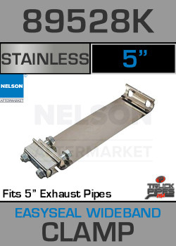 "5"" E-Z Seal Stainless Steel Exhaust Band Clamp 89528K"