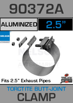 "2.5"" Aluminized Torctite Butt Joint Exhaust Clamp  90372A"