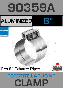 "6"" Aluminized Torctite Preformed Lap Joint Clamp 90359A"
