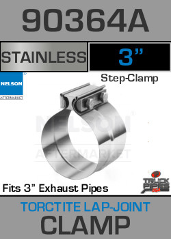 "3"" Stainless Steel Torctite Preformed Lap Joint Clamp 90364A"