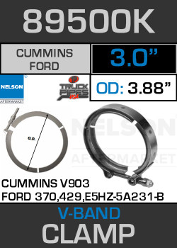 "3"" V-Band Clamp for Cummins V903 Engine 3.88 Lip 89500K"
