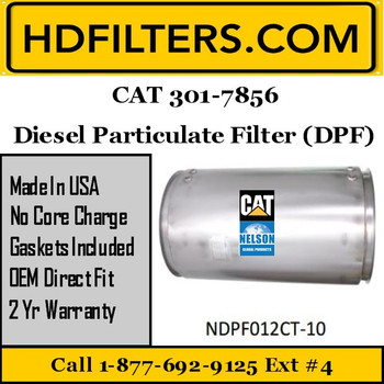 301-7856-NDPF012CT-10 301-7856 CAT C13/C15 DPF Diesel Particulate Filter