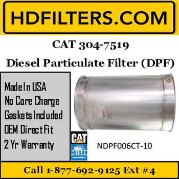 304-7519-NDPF006CT-10 304-7519 CAT C9-C13 DPF Diesel Particulate Filter