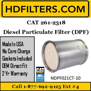261-2318-NDPF021CT-10 261-2318 CAT C9 DPF Diesel Particulate Filter