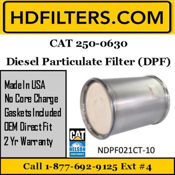 250-0630-NDPF021CT-10 250-0630 CAT C9 DPF Diesel Particulate Filter