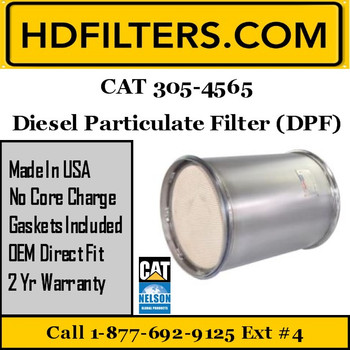 305-4565 CAT C7 DPF Diesel Particulate Filter