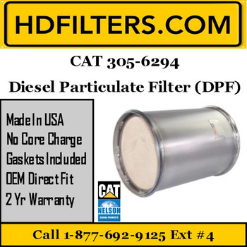 305-6294-NDPF040CT-10 305-6294 CAT C7 DPF Diesel Particulate Filter