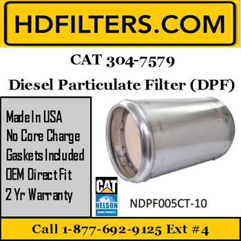 304-7579-NDPF005CT-10 304-7579 CAT C7 DPF Diesel Particulate Filter
