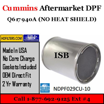 Q617940A no shield-NDPF029CU-10 Q617940A no shield Cummins ISB Engine Diesel Particulate Filter DPF