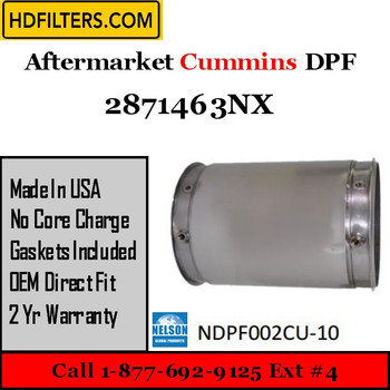 2871463NX-NDPF002CU-10 2871463NX Cummins ISL Engine Diesel Particulate Filter DPF