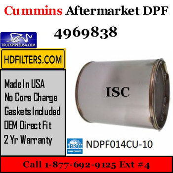 4969838-NDPF014CU-10 4969838 Cummins ISC Engine Diesel Particulate Filter DPF