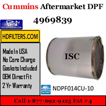 4969839-NDPF014CU-10 4969839 Cummins ISC Engine Diesel Particulate Filter DPF