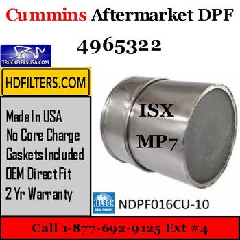 4965322-NDPF016CU-10 4965322 Cummins-Volvo-Mack ISX MP7 Diesel Particulate Filter DPF