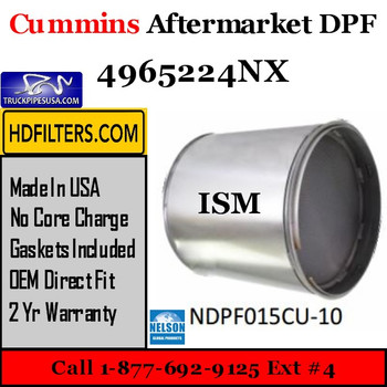 4965224NX-NDPF015CU-10 4965224NX Cummins ISM Engine Diesel Particulate Filter DPF
