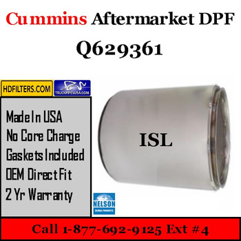 Q629361-NDPF045CU-10 Q629361 Cummins ISL Engine Diesel Particulate Filter DPF